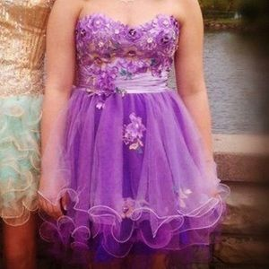 Short Purple formal dress